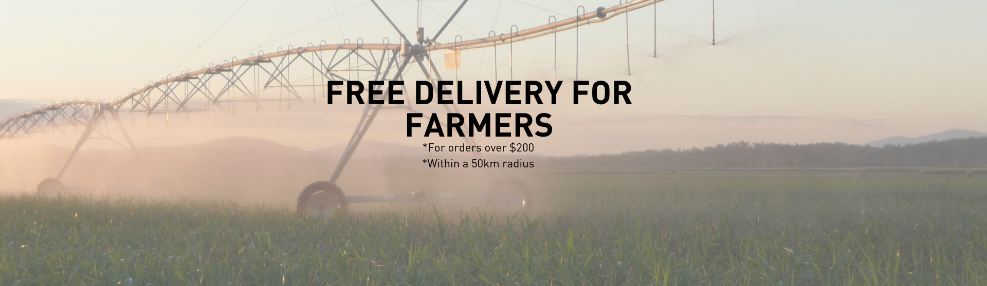 Free Delivery for Farmers